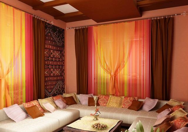 Комната для отдыха в восточном стиле