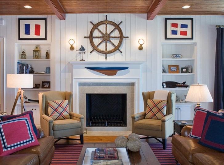 Комната отдыха в морском стиле