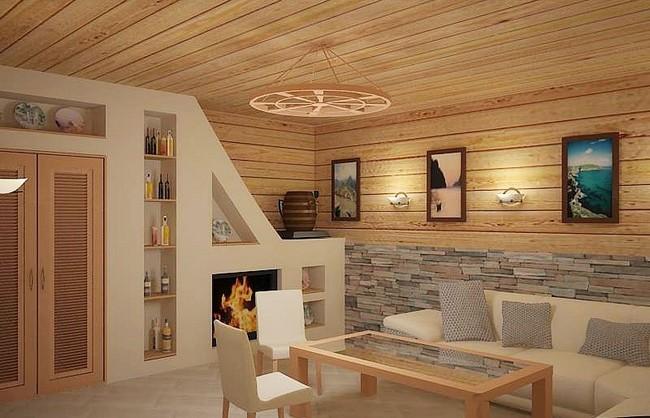 Комната в бане в стиле модерн